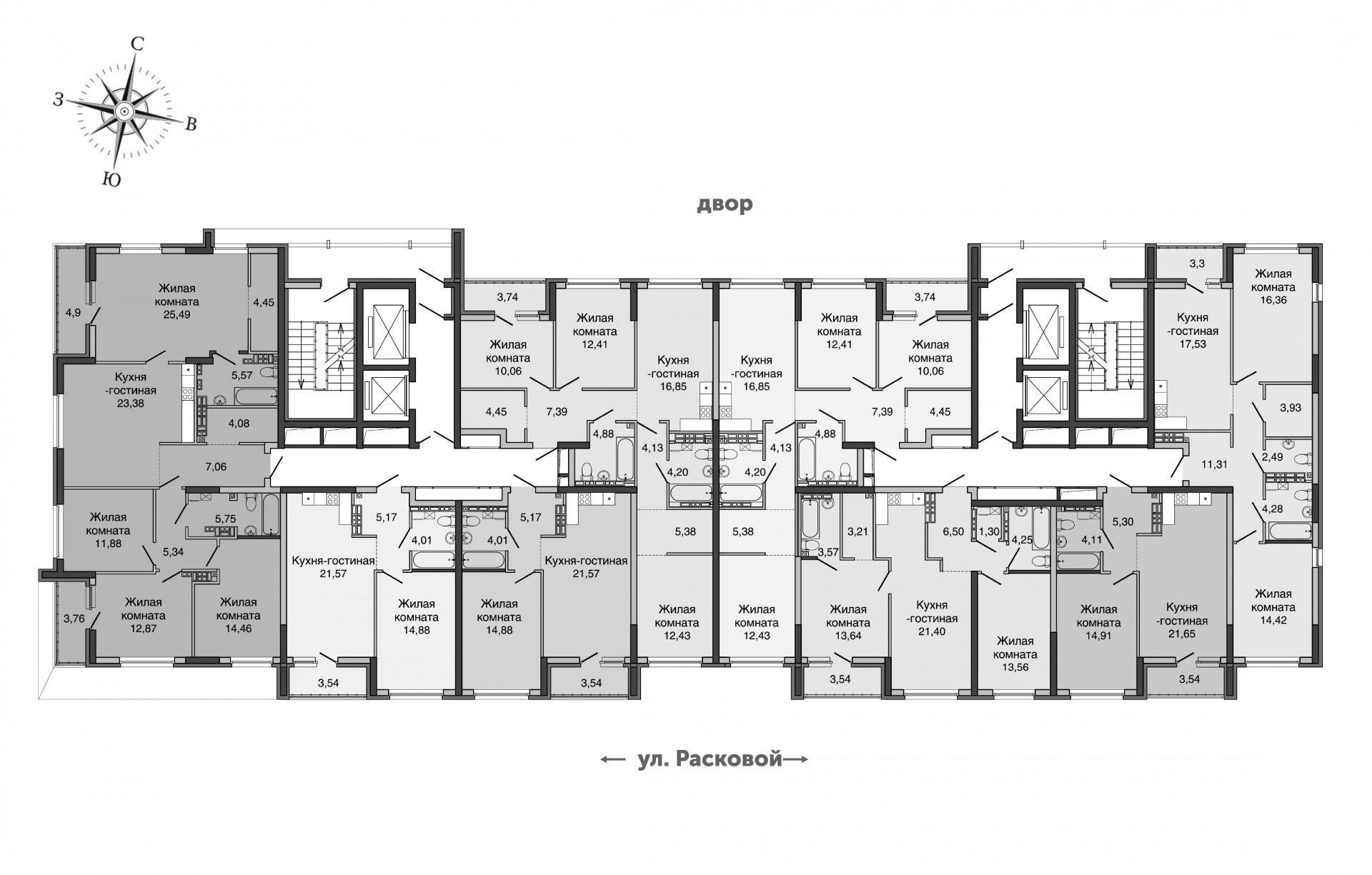 16-20 этаж