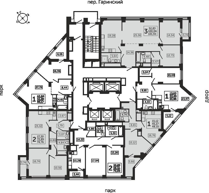 14-24  этаж